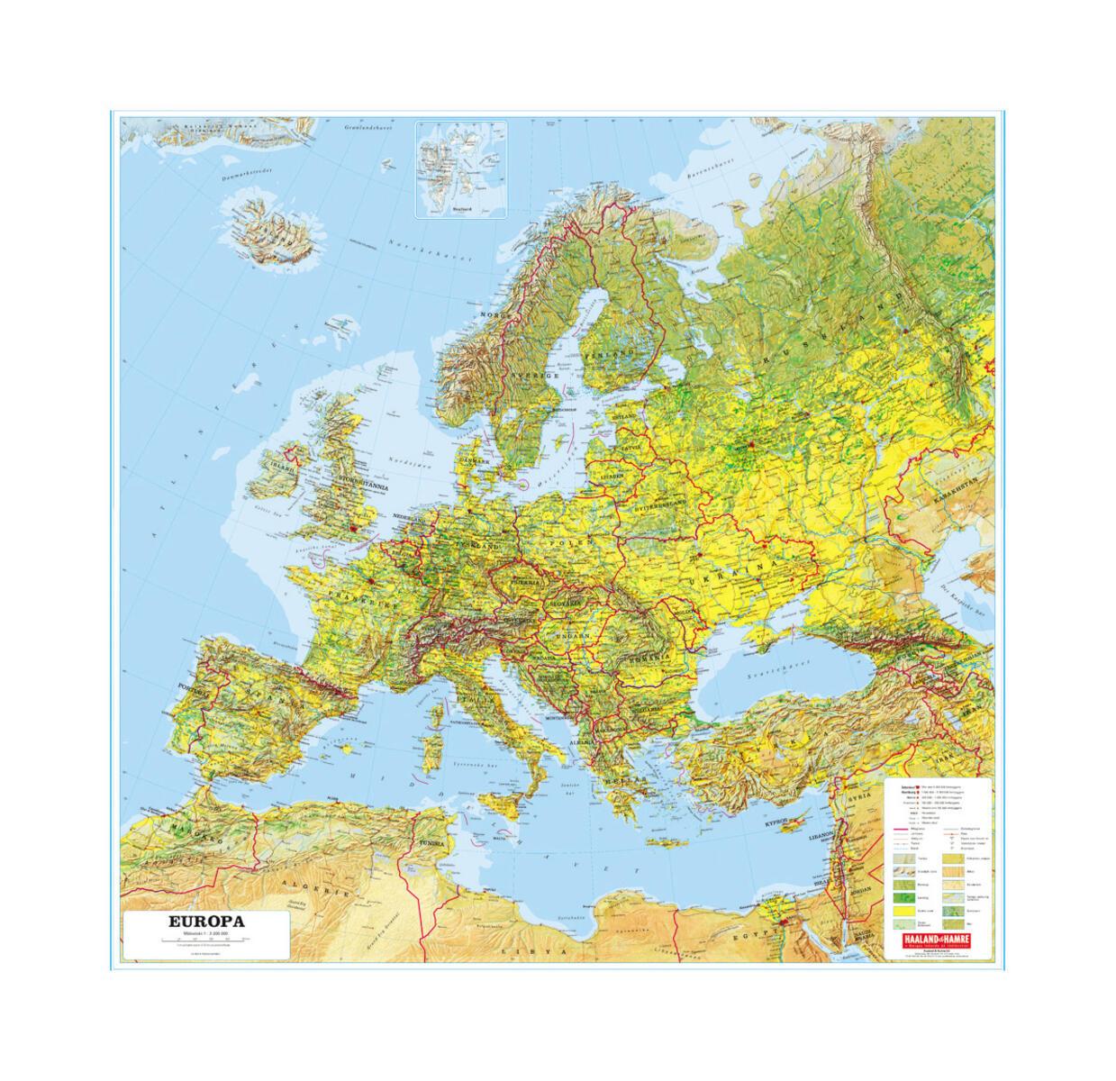 europa kart med målestokk Europakart m/selvløftende stokk og snor   Lekolar Norge europa kart med målestokk