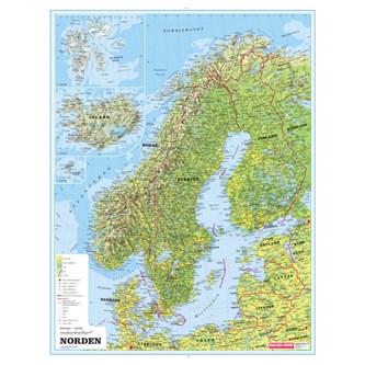 Norden Kart M Selvloftende Stokk Og Snor Lekolar Norge