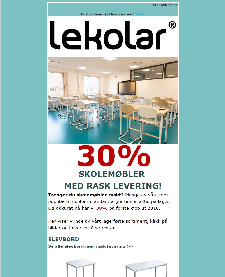 0237a469 Møbler med rask levering - Lekolar Norge